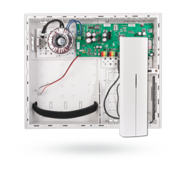 JA-106KR control panel with built-in GSM/GPRS/ LAN communicator and radio module