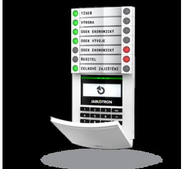 JA-114E BUS žični dostopni modul z RFID čitalcem, tipkovnico in LCD zaslonom