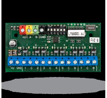 JA-118N BUS žični 8-kanalni indikator stanja sekcij/PG izhodov